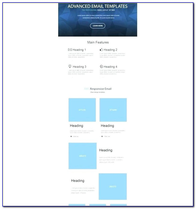 Frittata Responsive Email Newsletter Template Effective