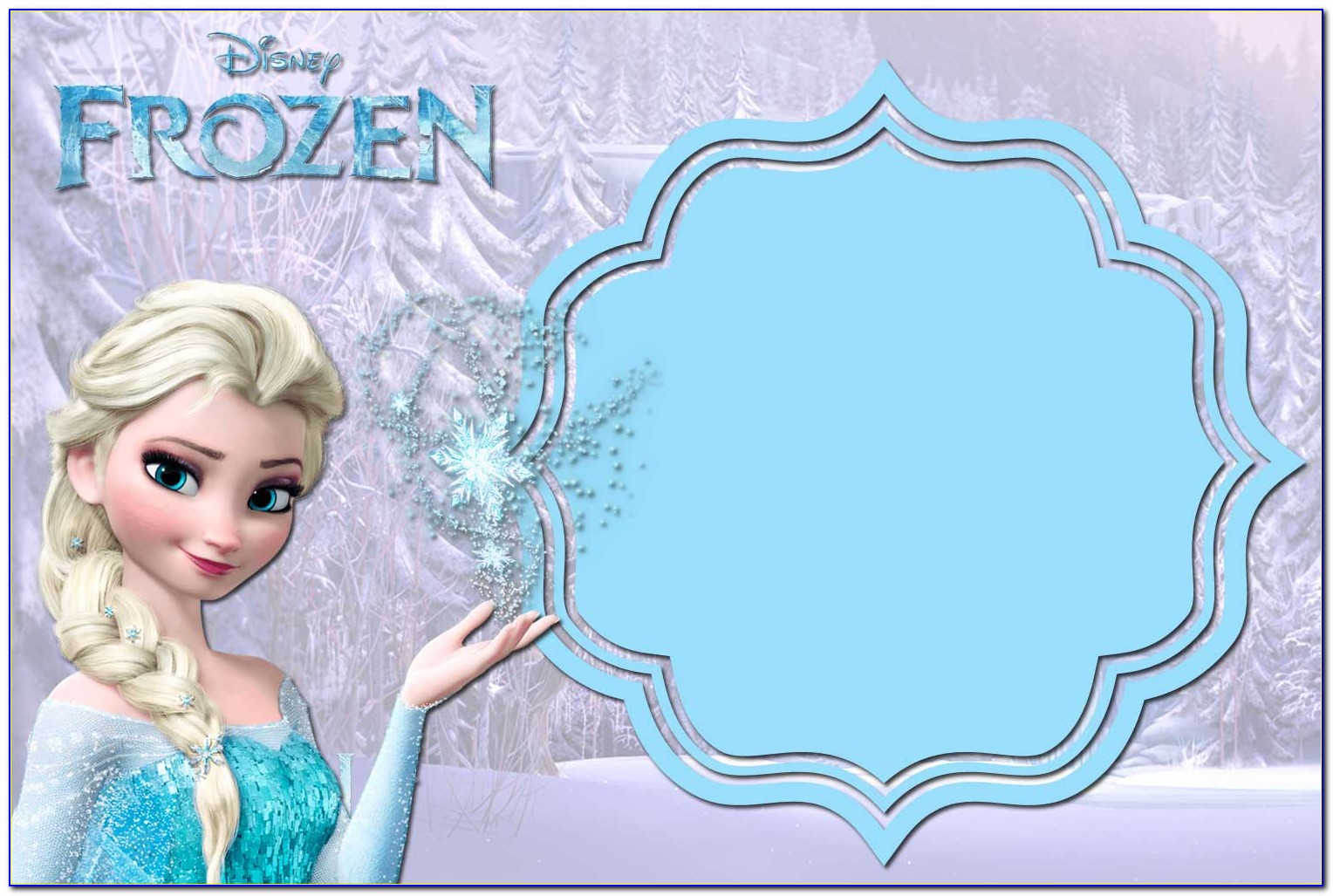 Frozen Birthday Invitation Template Free Download