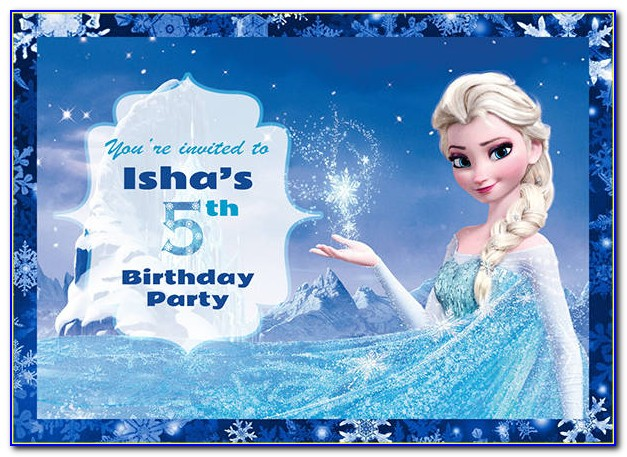 Frozen Fever Invitation Templates Free Download