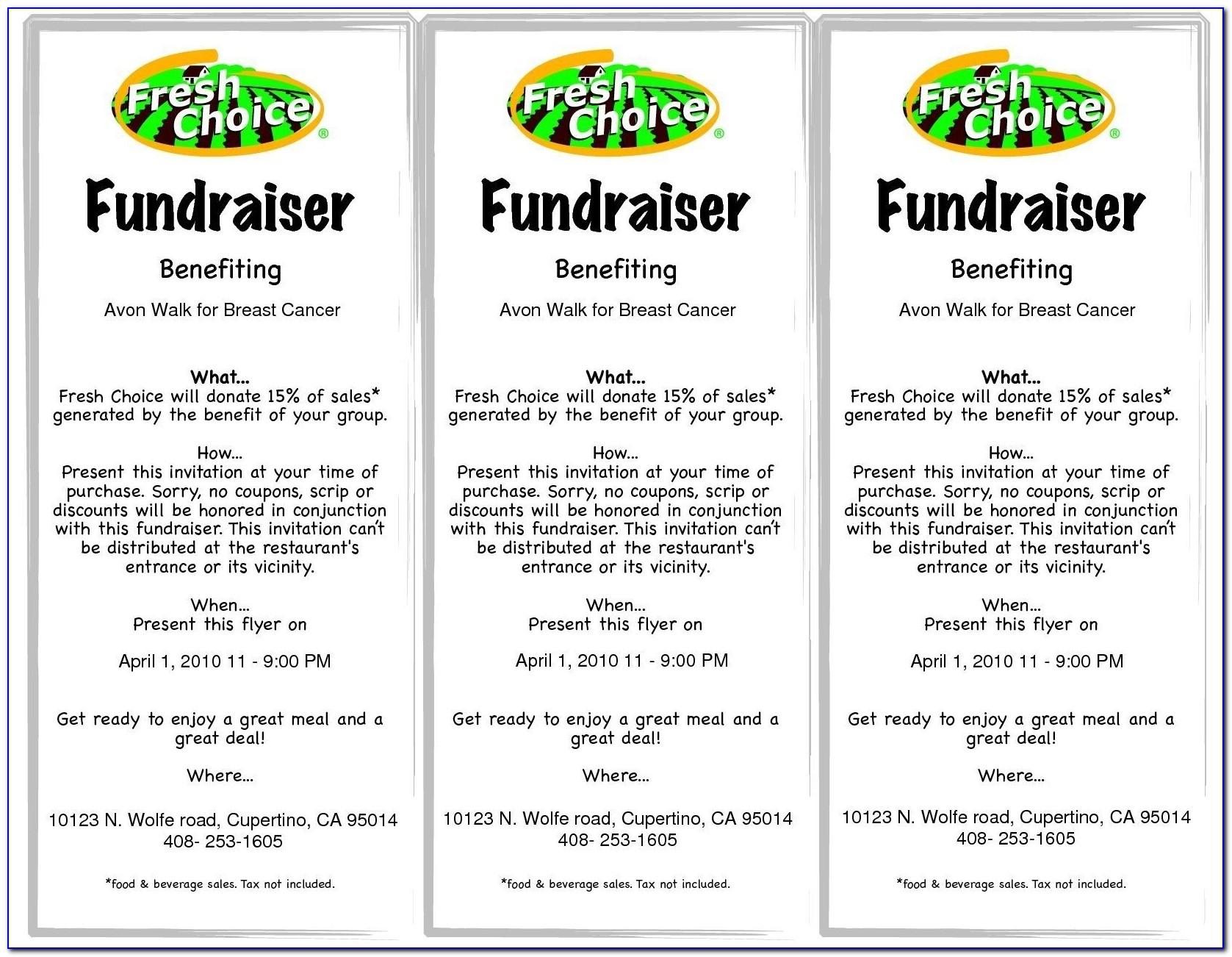 Fundraiser Ticket Template Word
