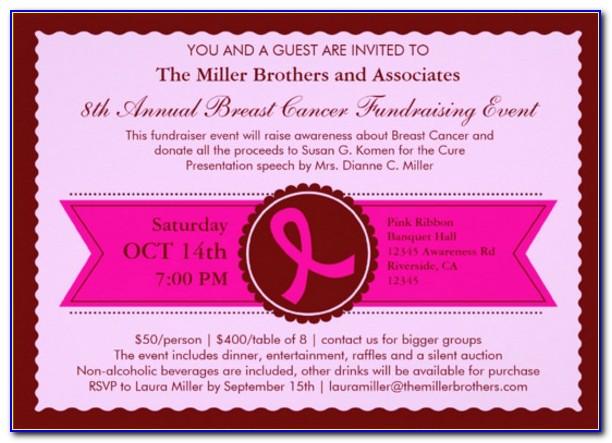 Fundraising Invitation Cards Samples