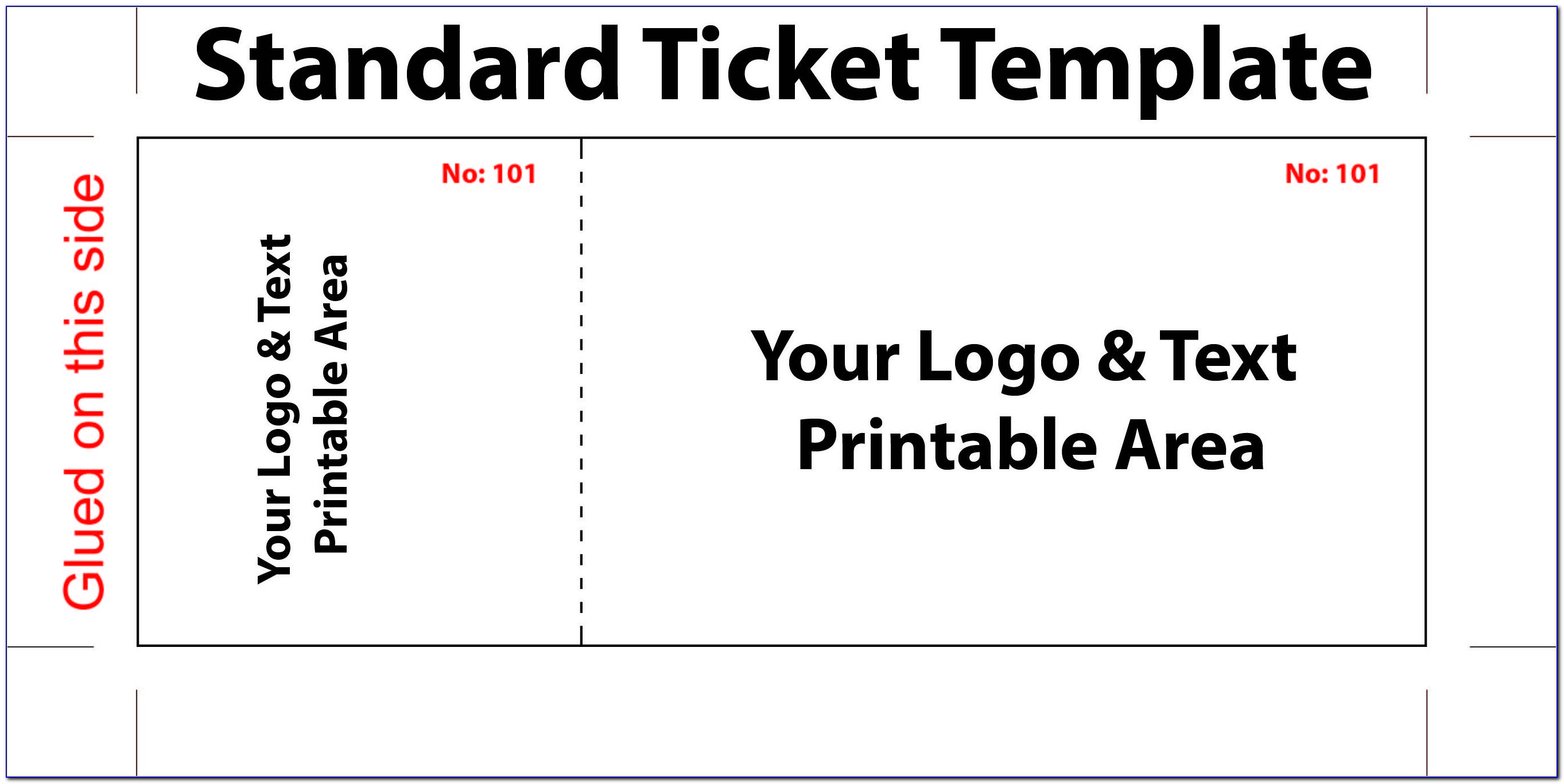 Fundraising Raffle Ticket Template