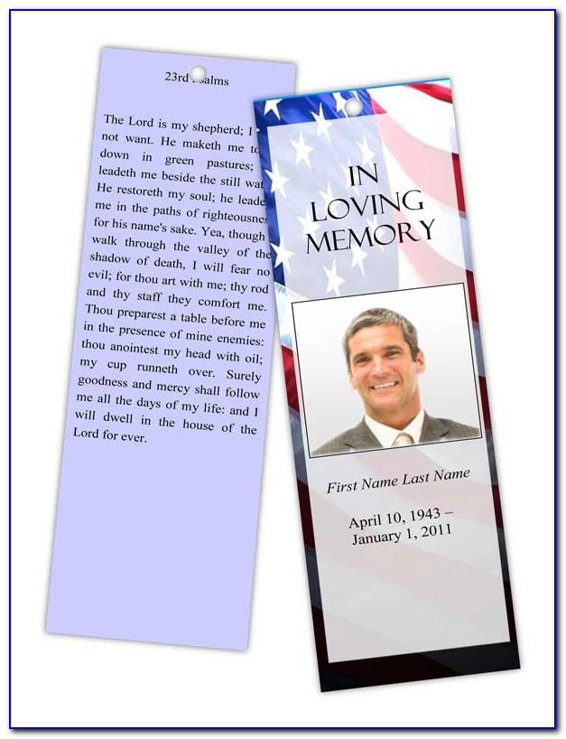 Funeral Memorial Card Templates