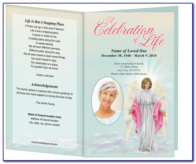 Funeral Prayer Card Templates