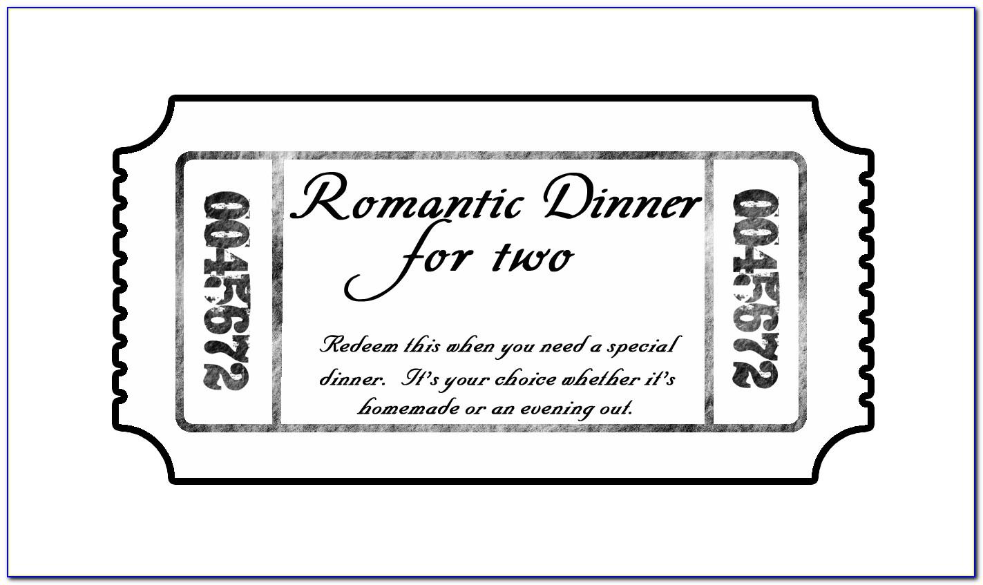 Gala Dinner Tickets Template