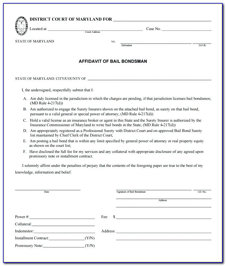 General Affidavit Template South Africa