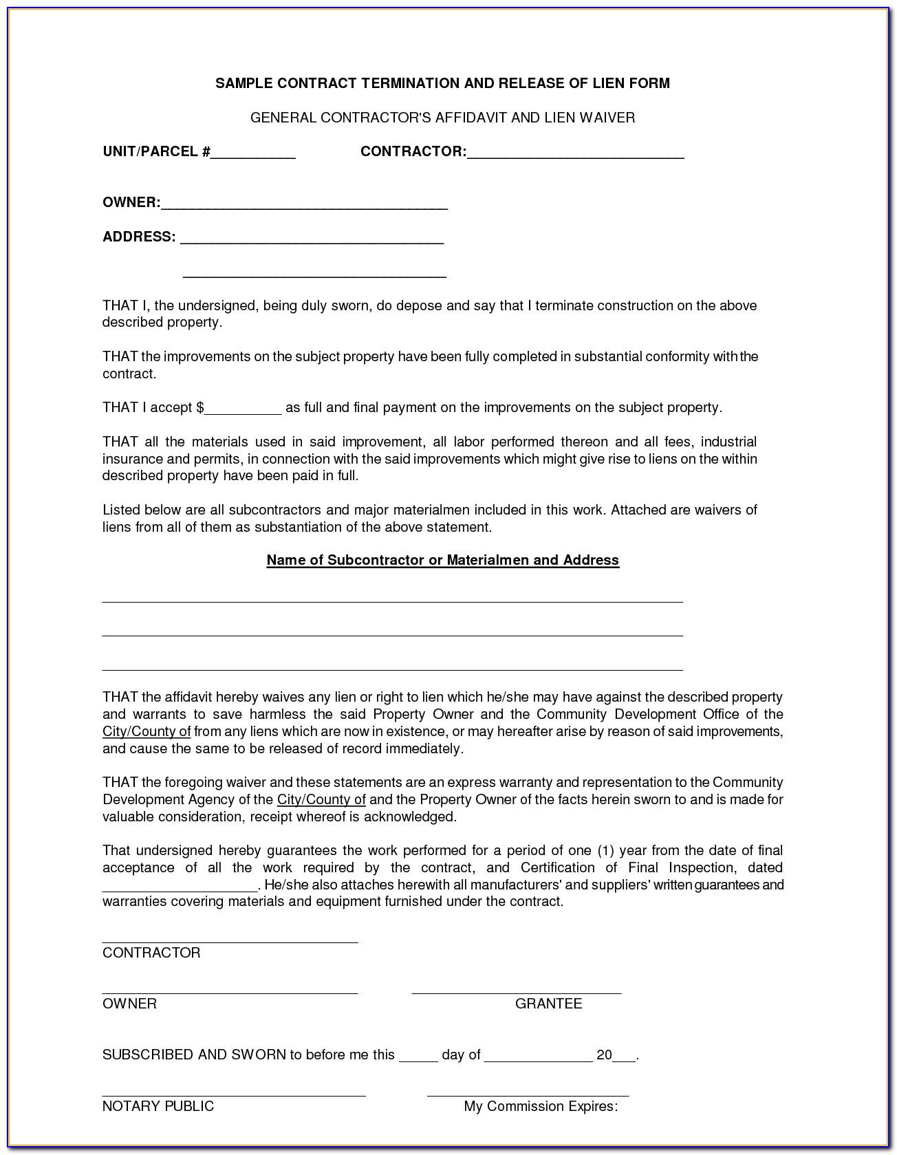 General Contractors Contract Template