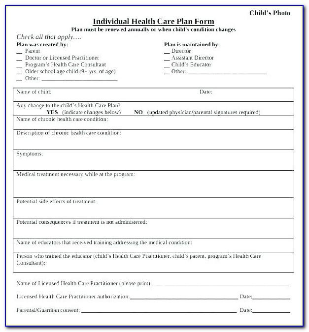 Geriatric Care Plan Template