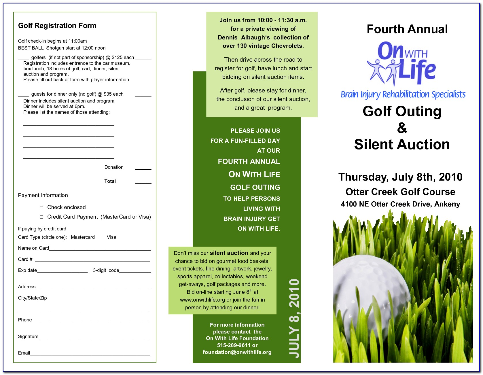 Golf Brochure Template Free