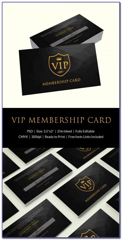 Golf Club Membership Card Template