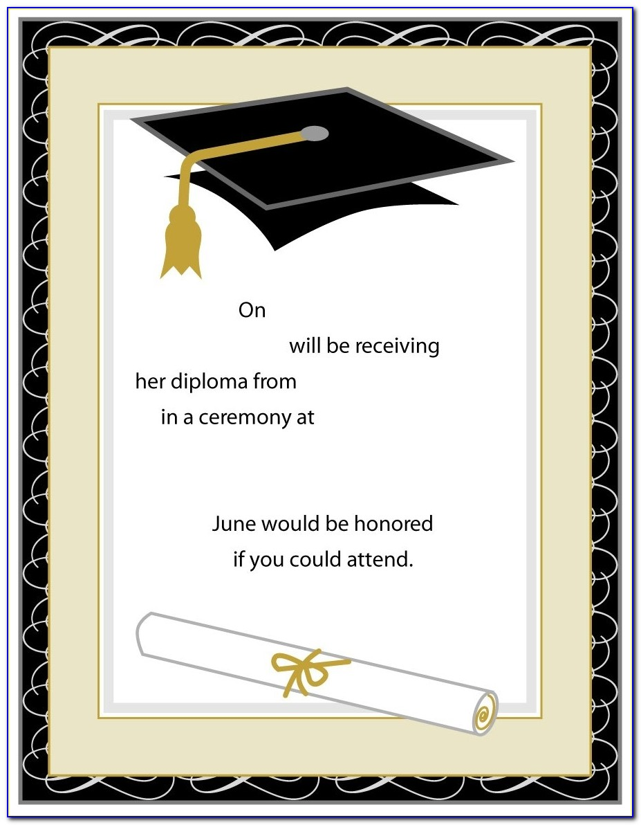 40+ Free Graduation Invitation Templates Template Lab Regarding Graduation Invitation Templates