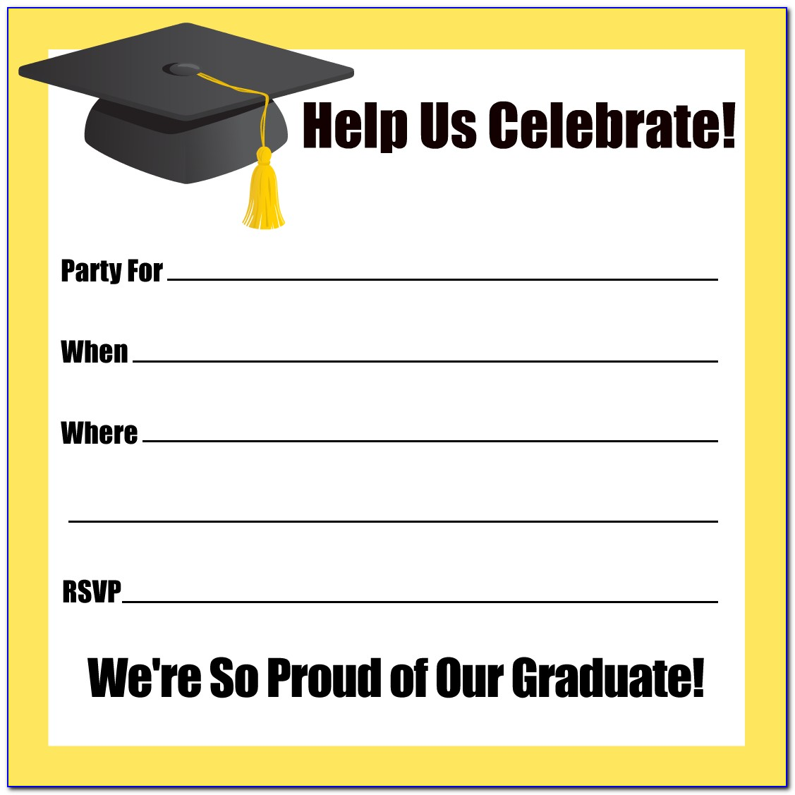 Graduation Party Invitation Templates Powerpoint