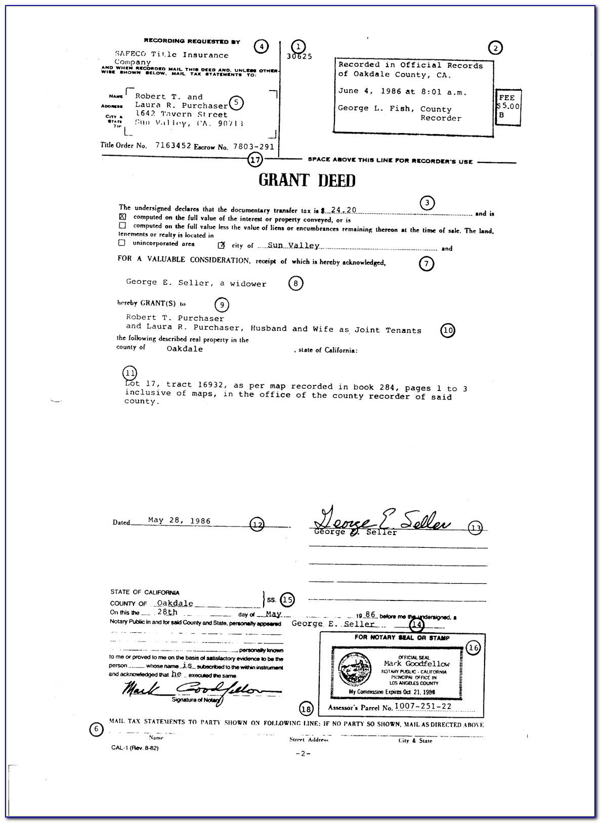 Grant Deed Document