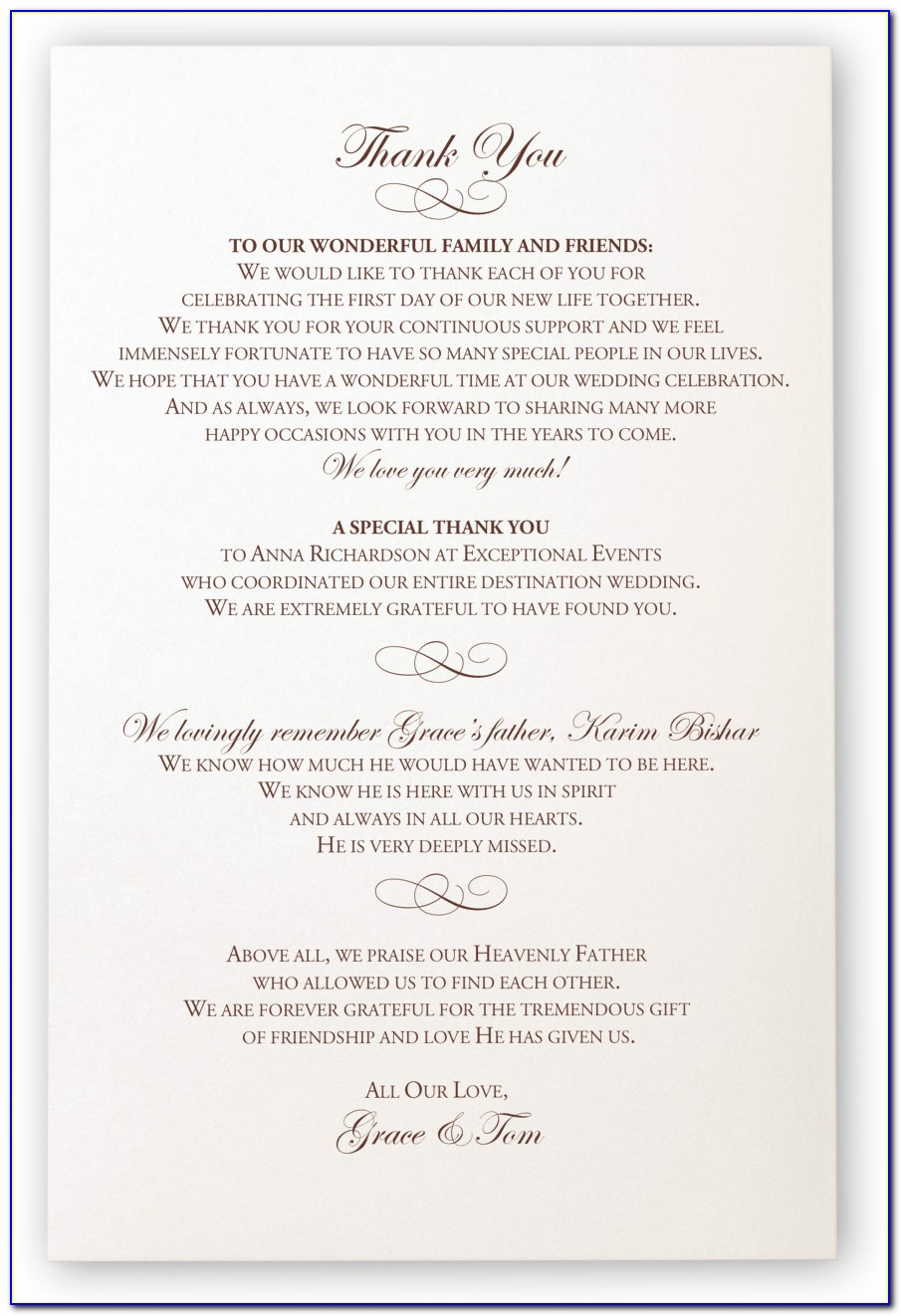 Greek Orthodox Wedding Ceremony Program Wording
