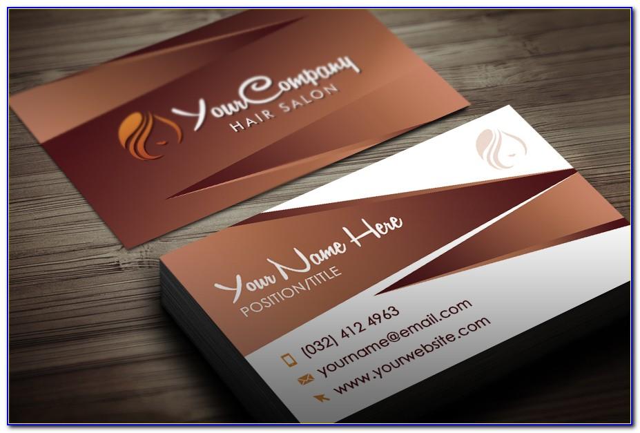 Hair Salon Business Card Templates Free