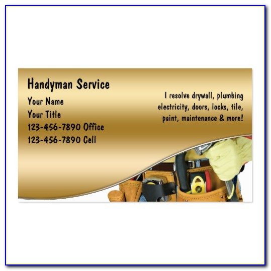 Handyman Business Card Templates