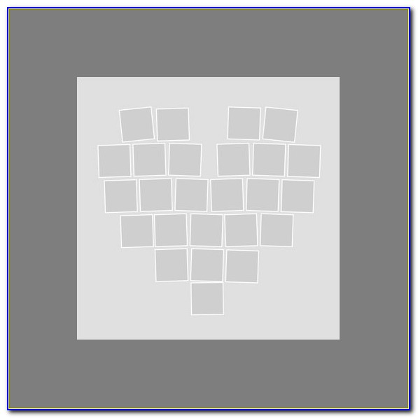 Heart Shape Photo Collage Template