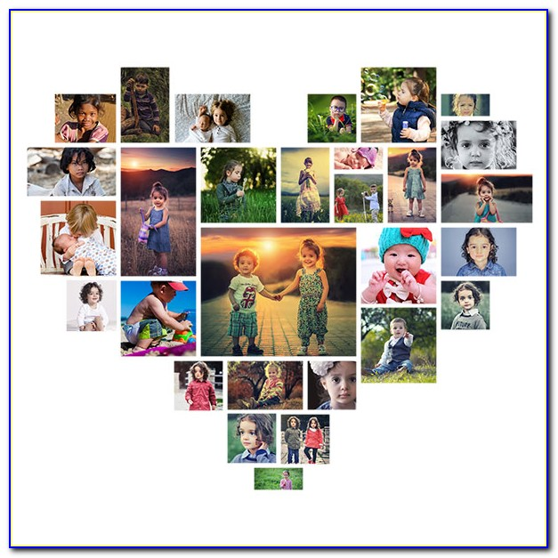 Heart Shaped Collage Template Free