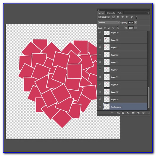 Heart Shaped Collage Template Psd