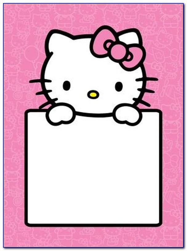 Hello Kitty Invitation Template Free Download