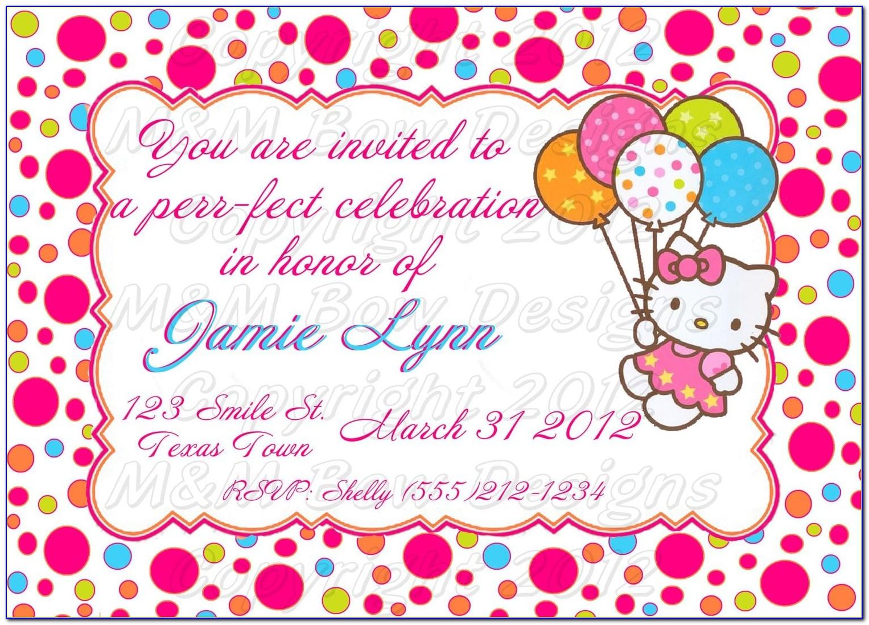 Hello Kitty Invitation Template Psd