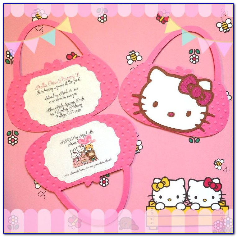 Hello Kitty Invites Templates
