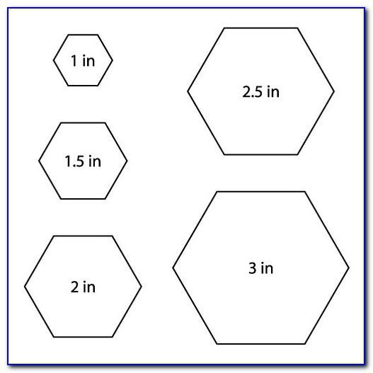 Hexagon Quilt Templates Free