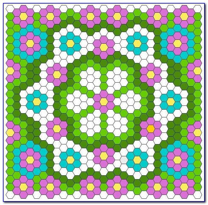 Hexagon Quilting Paper Templates
