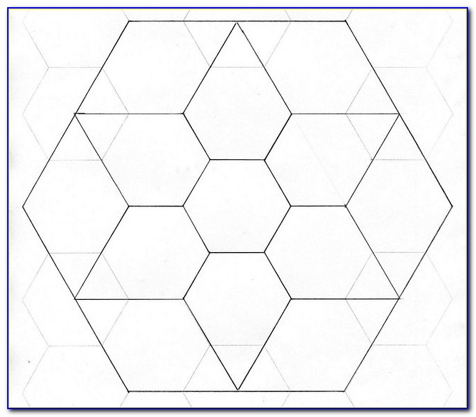 Hexagon Quilting Pattern