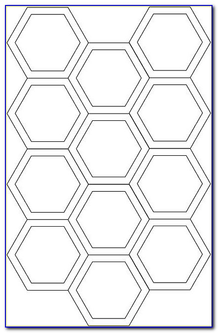 Hexagon Quilting Template