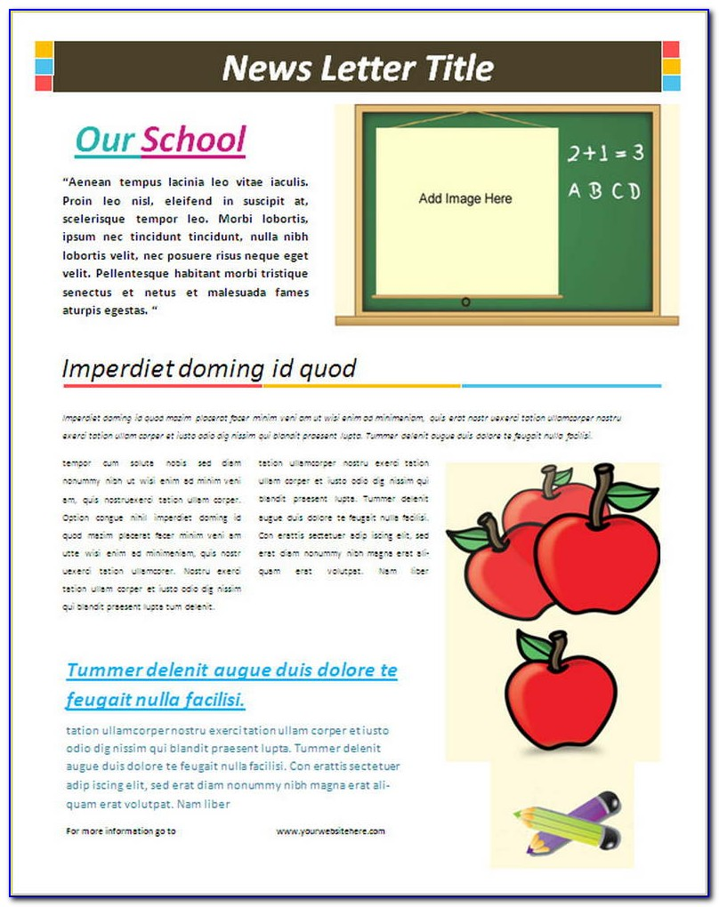 High School Newsletter Templates Free Download