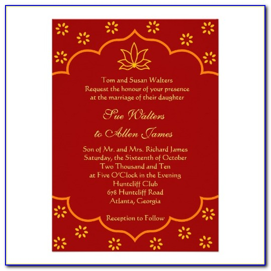 Hindu Marriage Invitation Templates Free Download