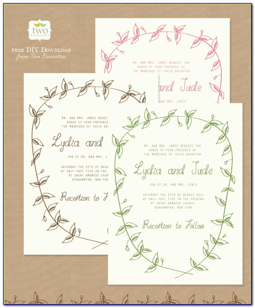 Free Printable Wedding Invitations | Popsugar Smart Living