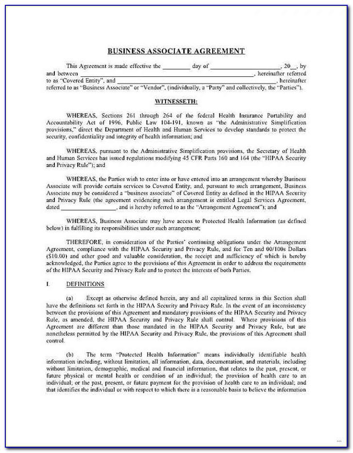 Hipaa Compliance Agreement Template Fresh 51 Awesome Hipaa Business Associate Agreement Template 2016