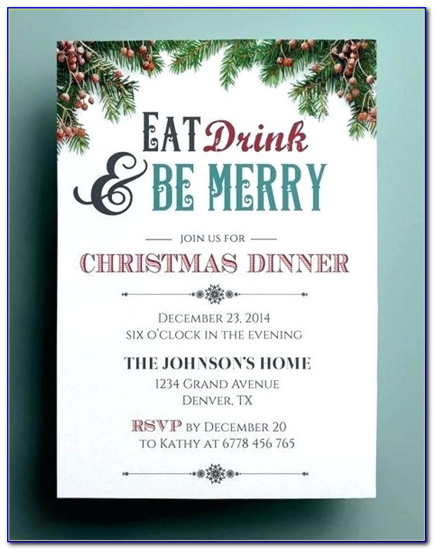 Holiday Open House Invitation Template Free