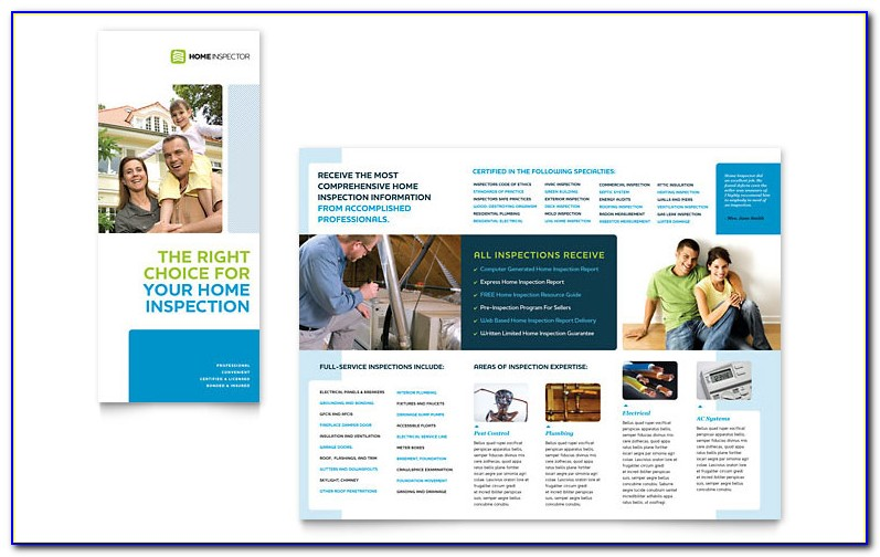 Home Inspection Brochure Templates