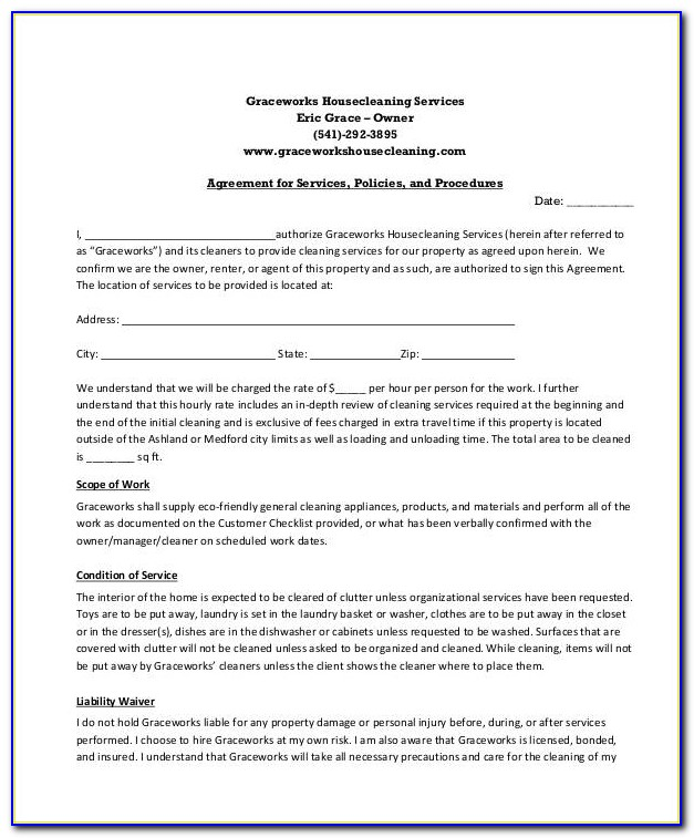 Sample Cleaning Service Contract 6 Examples In Word Pdf Cleaning Service Contract Template Cleaning Service Contract Template