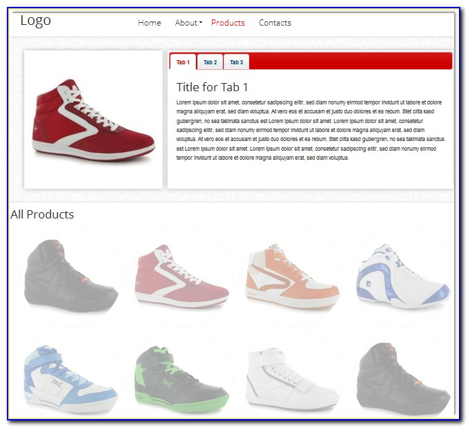 Html5 Product Catalog Template Free