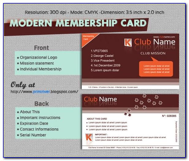 Hunting Club Membership Card Template
