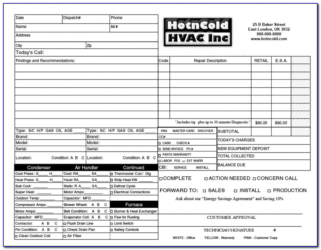 Hvac Estimate Template Free