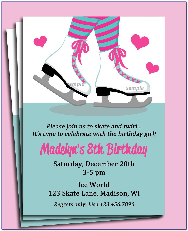 Ice Skating Invitations Templates