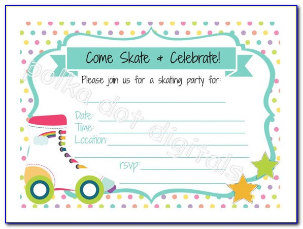 Ice Skating Party Invitations Templates
