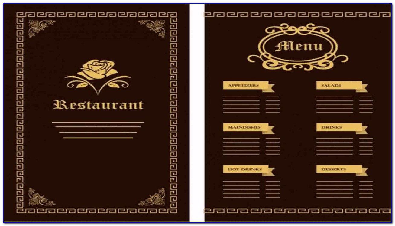 Illustrator Restaurant Menu Template Free