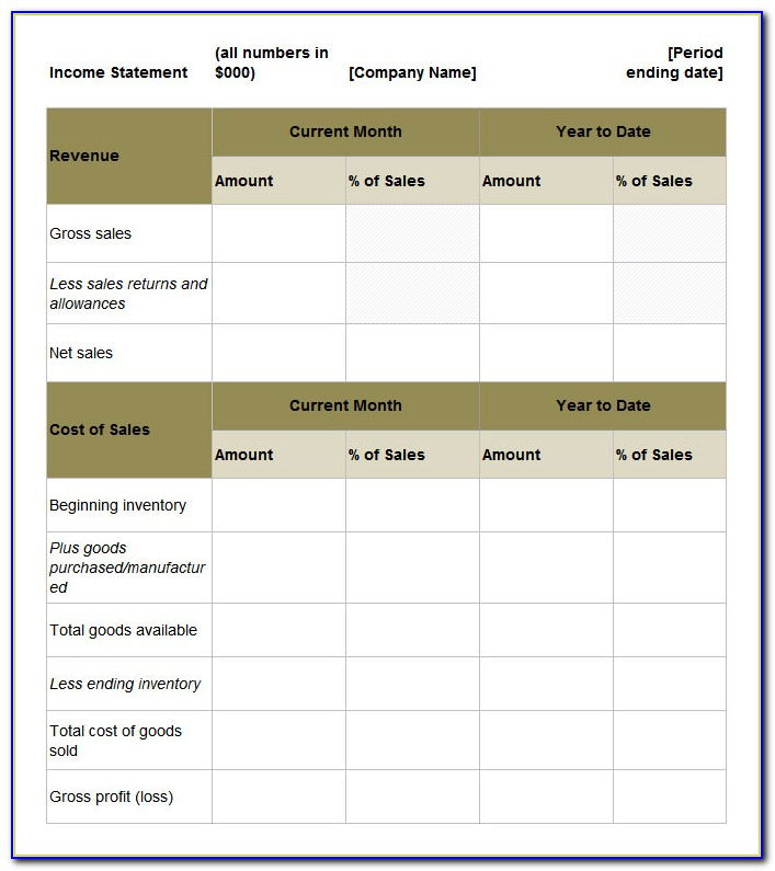 Income Tax Calculation Statement Form Free Download