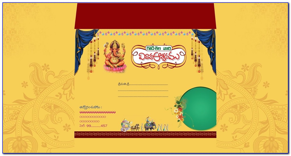 Indian Wedding Card Design Psd