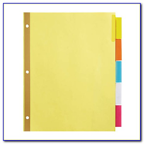Insertable 8 Tab Divider Template