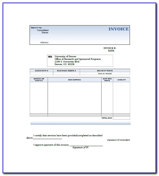 Invoice Consultant Sample