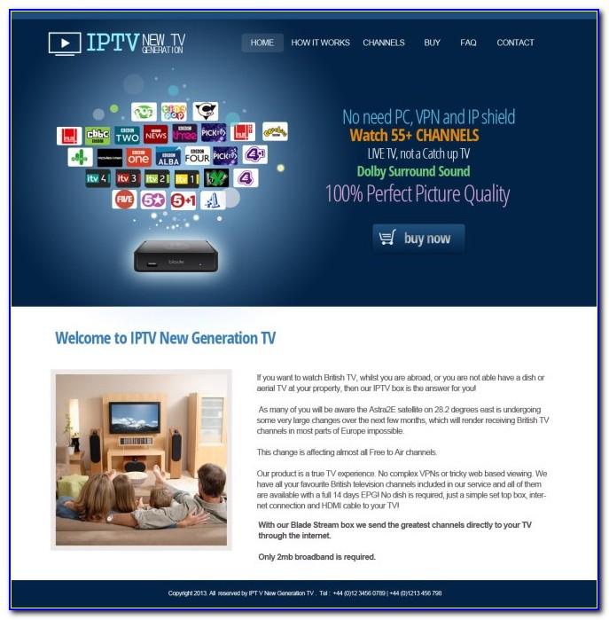Iptv Website Templates