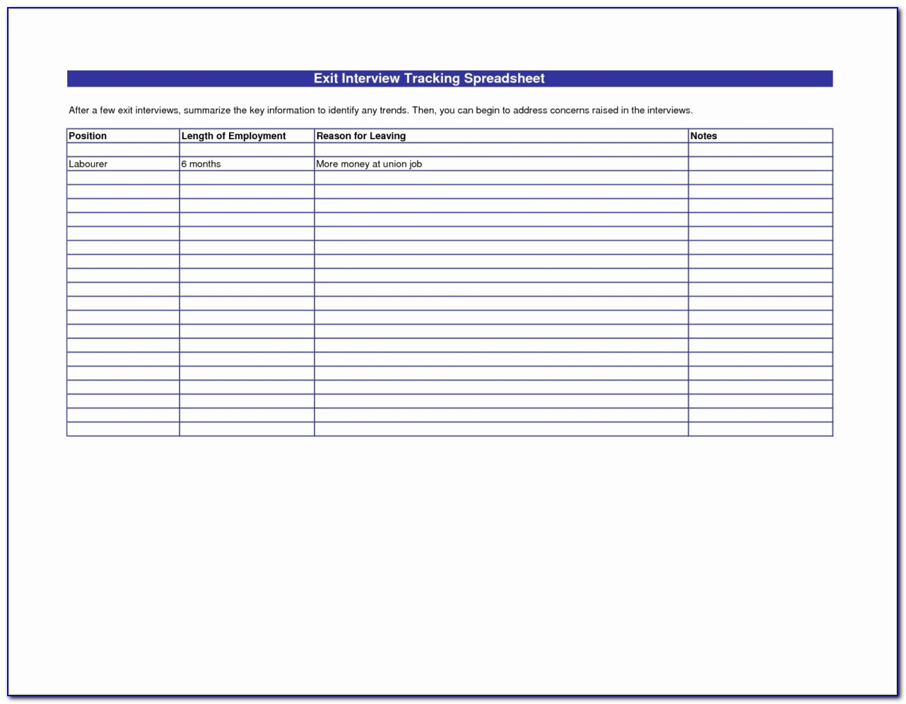 Job Candidate Tracker Excel Template