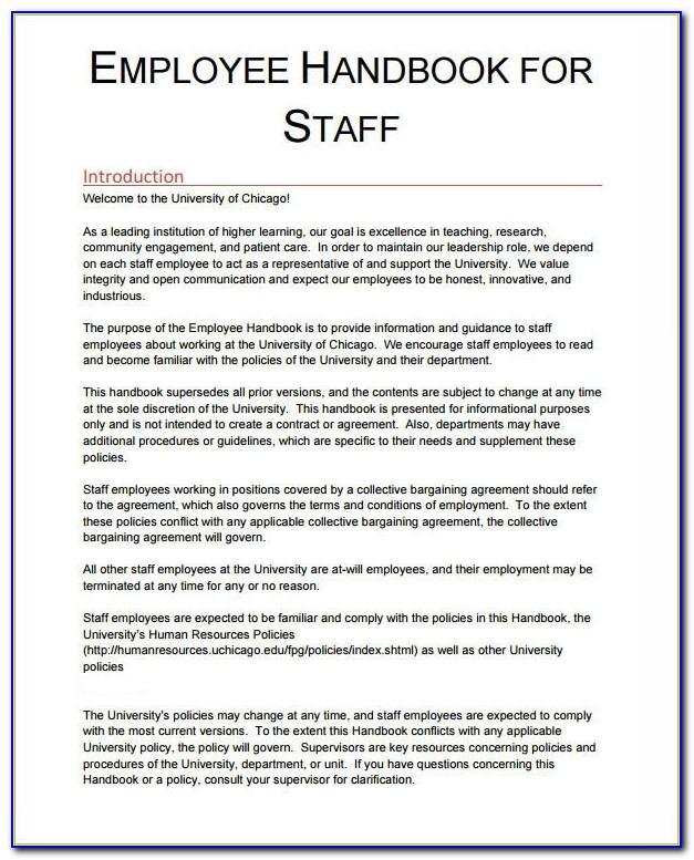 Employee Handbook Template 6 Free Pdf , Doc Download With Regard To Employee Handbook Template